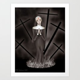 Martyred to Hell Art Print