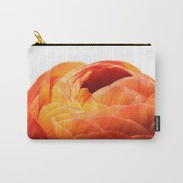 Orange Poppy on White Carry-All Pouch