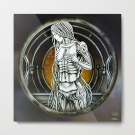 """Astrological Mechanism - Virgo"" Metal Print"