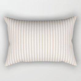 Classic Small Beige Burlap French Mattress Ticking Double Stripes Rectangular Pillow