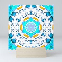 eyes on the horizon (blue/yellow) Mini Art Print