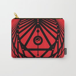 Radiant Abundance (red-black) Carry-All Pouch