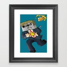 Solaire of Block - Minecraft Avatar Framed Art Print