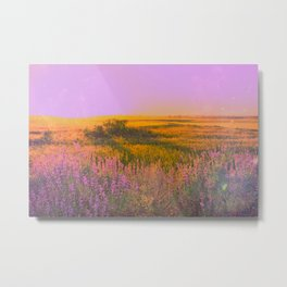 Purple Chill Metal Print
