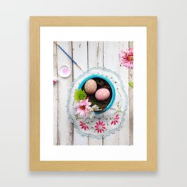 Painted Eggs  Framed Art Print