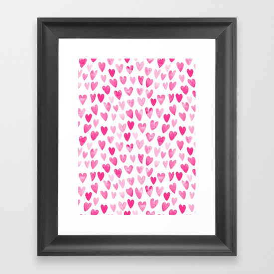 Hearts Pattern watercolor pink heart perfect essential valentines day gift idea for her by charlottewinter