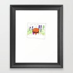 burger dog Framed Art Print