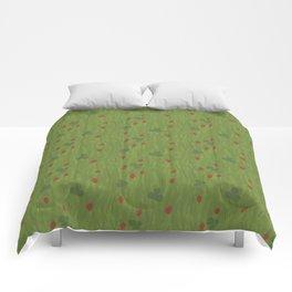 Wild Strawberry Fields Comforters