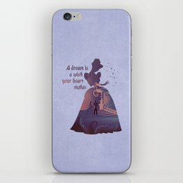 """A Dream Is A Wish Your Heart Makes"" Cinderella Inspired iPhone Skin"
