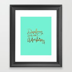 Darling Let's Be Adventurers Framed Art Print