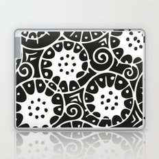 Black and White Swirl Pattern Laptop & iPad Skin