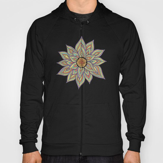 Floral Rhythm In The Dark Hoody