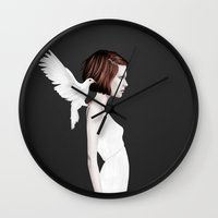 ruben Wall Clocks featuring Only You by Ruben Ireland