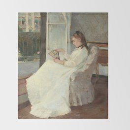 The Artist's Sister at a Window by Berthe Morisot Throw Blanket