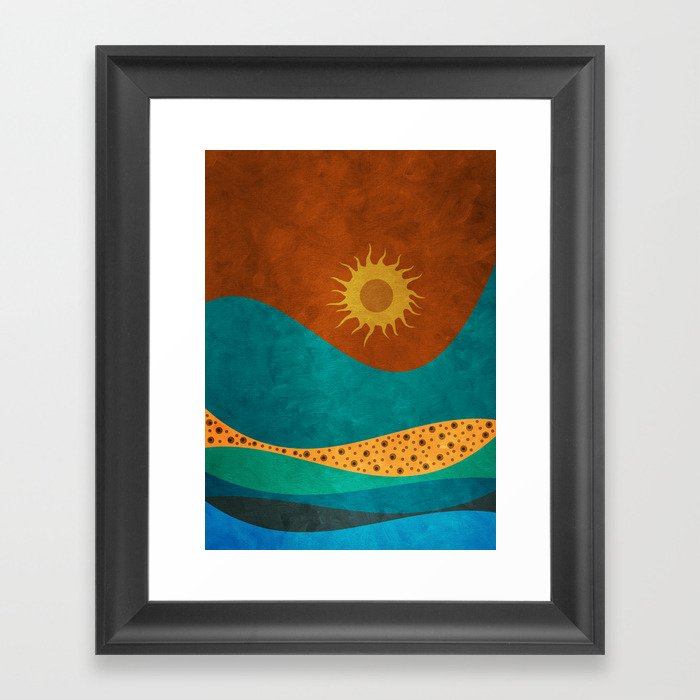 color under the sun (II) Framed Art Print