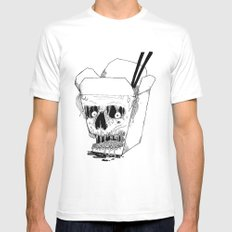Monster Food: Takeout MEDIUM White Mens Fitted Tee