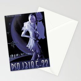 NASA Retro Space Travel Poster #10 PSO J318.5-22 Stationery Cards