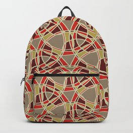Spiral Mosaic Orange Backpack