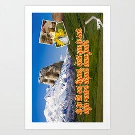 Carte Postale - Je suis déjà rentré Art Print