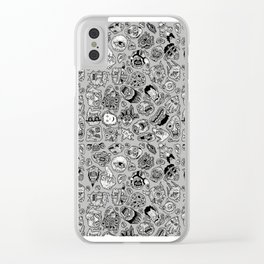 heaps of heads Clear iPhone Case