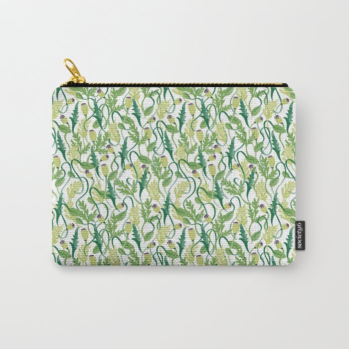 Poppy Buds Carry-All Pouch