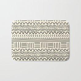 Mud Cloth on Cream Bath Mat