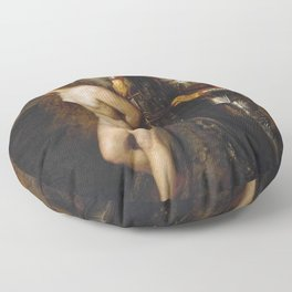 John Everett Millais - The Knight Errant Floor Pillow