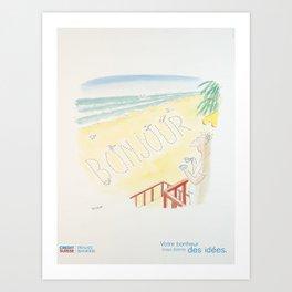 Plakat credit suisse votre bonheur nous Art Print