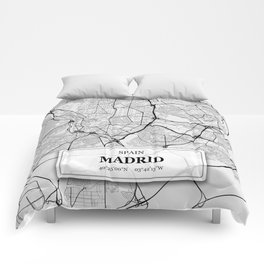 Madrid Spain with GPS Coordinates Comforters