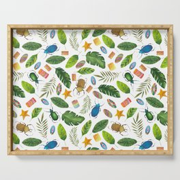 Bright summer! Watercolor bugs Serving Tray