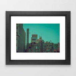 TOKYO CITY FLYING Framed Art Print