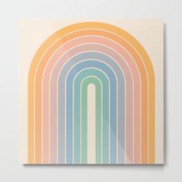 Gradient Arch - Rainbow III Metal Print