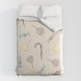 Candy Rush // lollipops, candy canes, toffees, candies Comforters