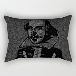 Shakespeare Midsummer Night's Typography Portrait Rectangular Pillow