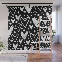 Heart symbol text Wall Mural