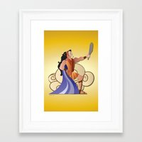 hercules Framed Art Prints featuring Leo - Hercules by AmadeuxArt
