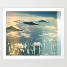 wanderlust airplane Art Print