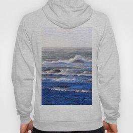 Wind Blown Stormy Seas Hoody