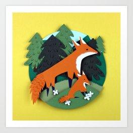 Mother Fox Art Print