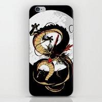 dragon ball iPhone & iPod Skins featuring Black Dragon by TxzDesign