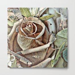 Toony World - Floral (Rose) Metal Print