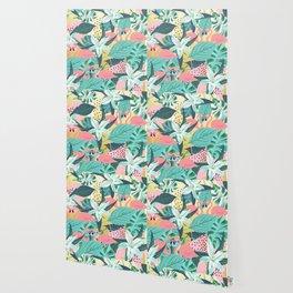 Flamingo Tropical #society6 #decor #buyart Wallpaper
