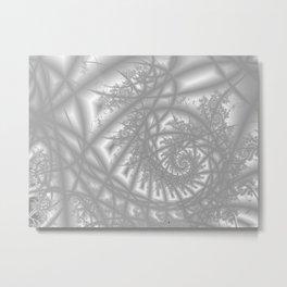 Venetian Lace In Gray Metal Print
