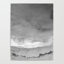 The Shore (Black and White) Poster