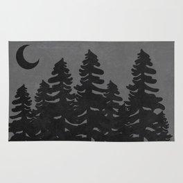 The Moon Over A Dark Dark Forest Rug