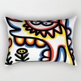Cool Loving Graffiti Street Art Monster with Flowers  Rectangular Pillow