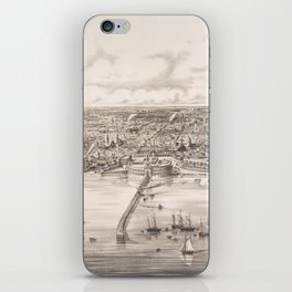 Vintage Pictorial Map of Buenos Aires Argentina (1850) iPhone Skin