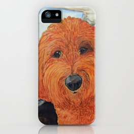 Goldendoodle in the Car iPhone Case