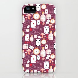Alice in Wonderland - Purple Madness iPhone Case