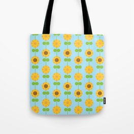 Kawaii Sunflowers Tote Bag